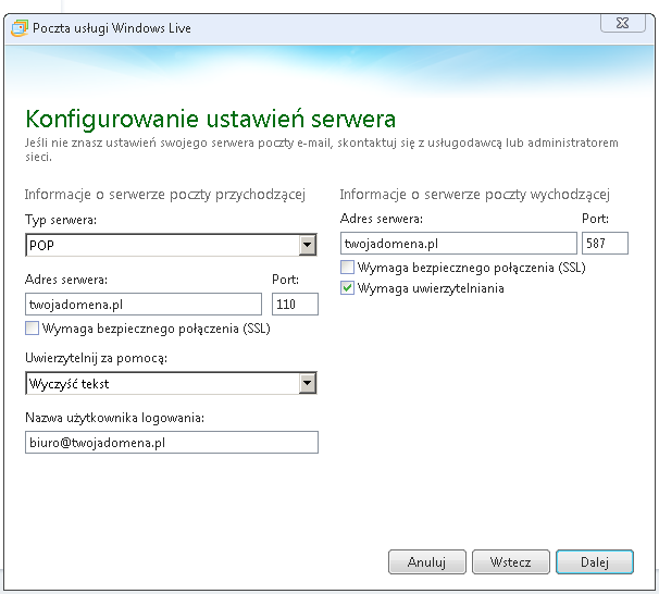 Poczta Windows Live2